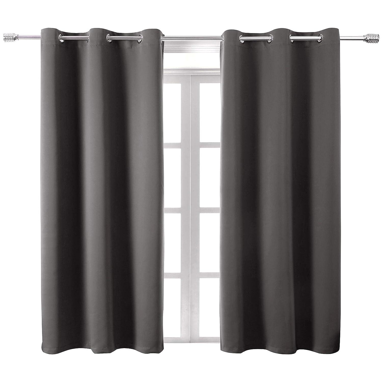 WONTEX 断熱遮光カーテン リビングルームと寝室用 カーテンパネル2枚 42 x 63 inch| Grommet グレー WT-C4263-25H 42 x 63 inch| Grommet グレー B07L56LLW8