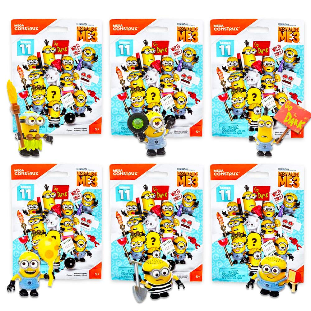 Despicable Me Minions Blind Bags Party Favors Packs Blind Bags 6 Minion Mystery Packs with Surprise Figure Toys Party Supplies