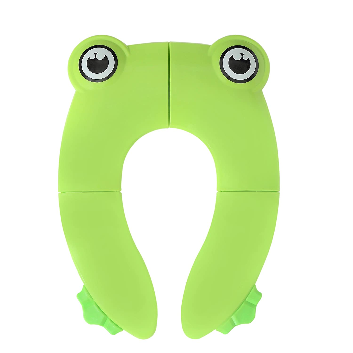 Portable Reusable with Non-Slip Silicone Pads and Carry Bag for Babies Kids Travel AID Folding Portable Potty Training Toilet Seat Cover Liner Toddlers