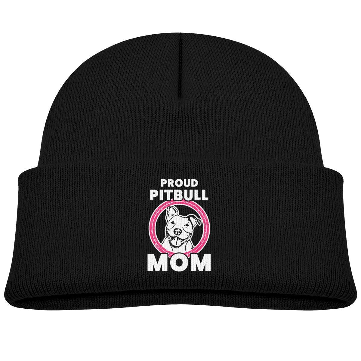 Hanfjj Kefdk Proud Pitbull Mom Infant Knit Hats Kids Beanie Caps
