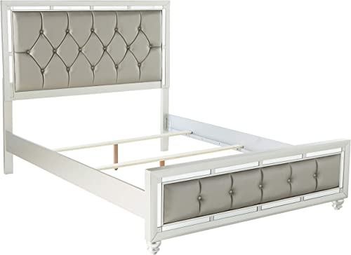 Global Furniture USA QB Riley Tufted Bed