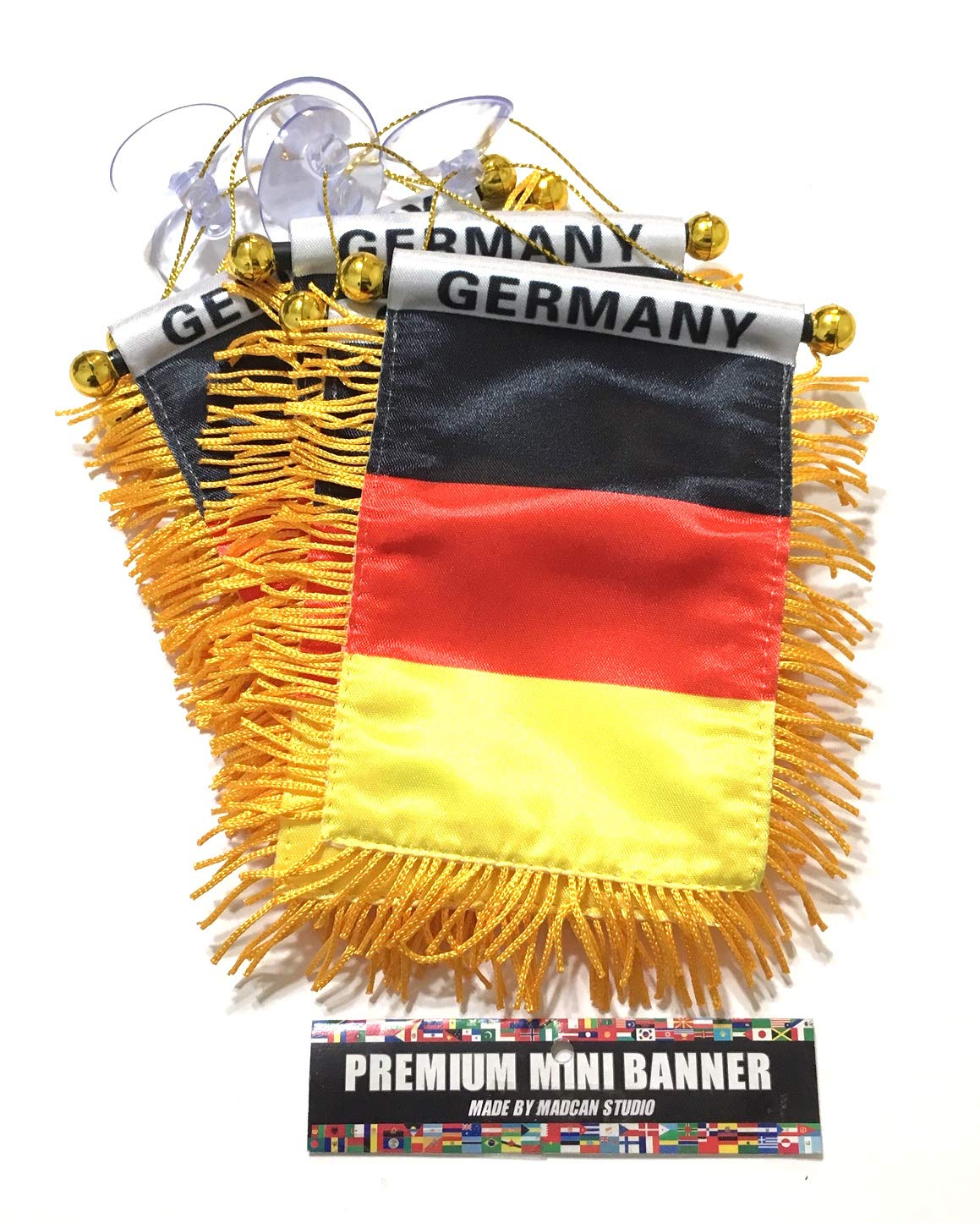 Mad can studios Germany German Flags for Cars Automobile Accessories Home Wall Art Nice Country Flags Wholesale Direct (12)