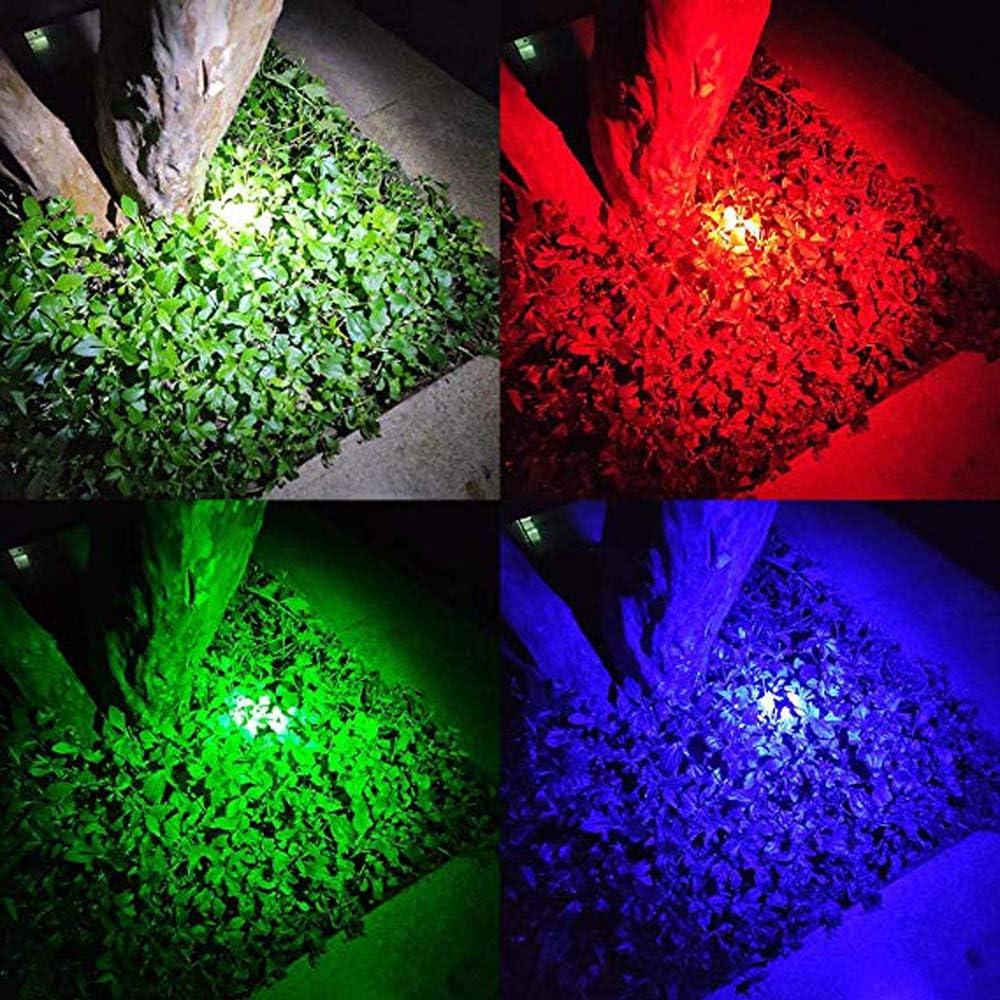4 Colores Blanca y Azul Linterna LED 4 en 1 con luz Roja Verde WESLITE Linterna Multicolor de Se/ñalizaci/ón para Carretera con Zoom para Astronom/ía al Aire Libre Senderismo con Visi/ón Nocturna