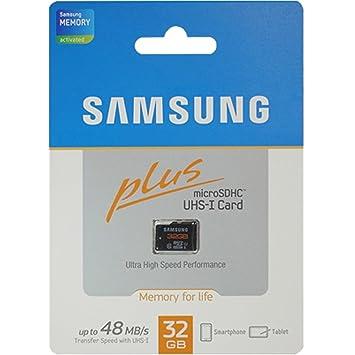 Amazon.com: Samsung Plus 32 GB microSDHC Class 10 UHS-1 ...