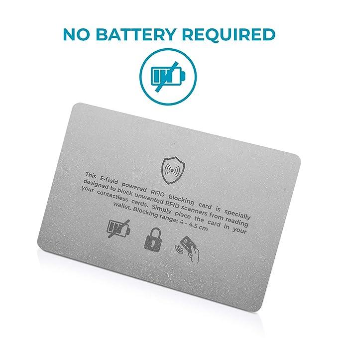 Protector RFID y NFC de Tarjetas de crédito contactless para Llevar en Cartera o Tarjetero | Tarjeta de Bloqueo antifraude para Billetera, protección ...