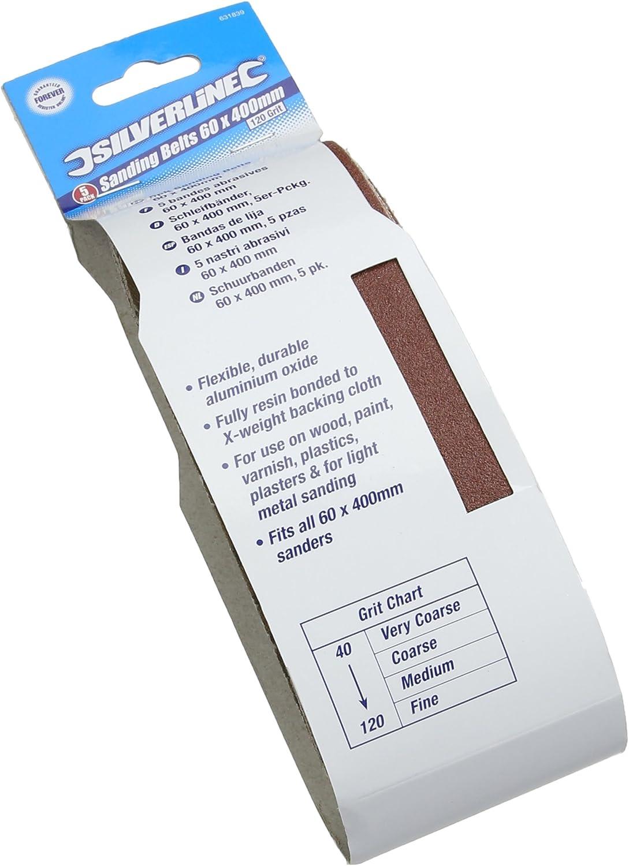 60 mm x 400 mm Sander Sanding Belts 60 Grit 60 x 400