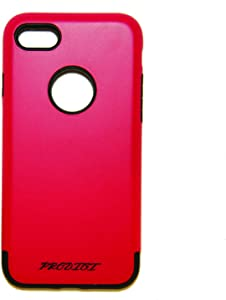Apple iPhone 7 Case - RED - Fitted, Dual Layer, Soft Rubber, Shockproof, Frustration-Free Packaging, PM-82 Grinder Series Case