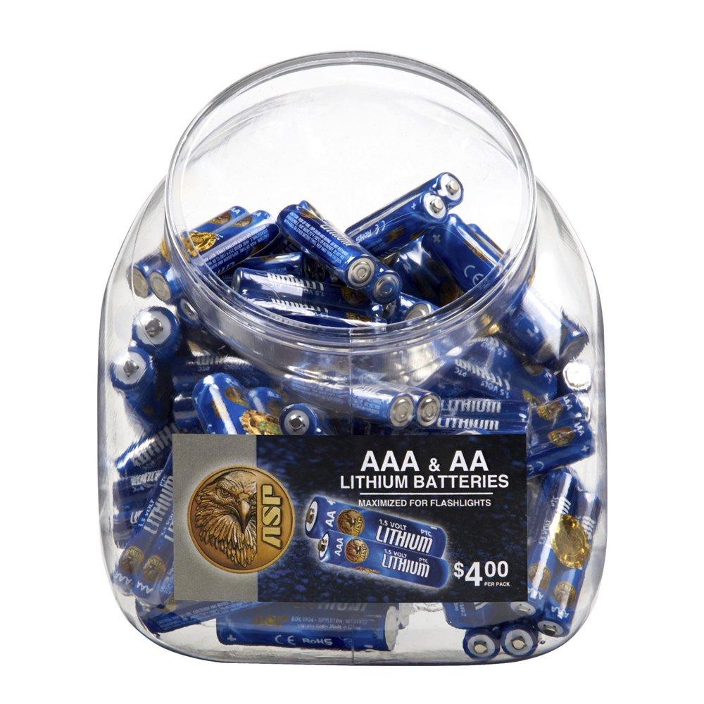 ASP Battery Bin (includes 50 AAA & 50 AA Batteries) by ASP