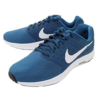 Nike Men's Navy Blue/White Downshifter 7 Running Shoes 852459-301
