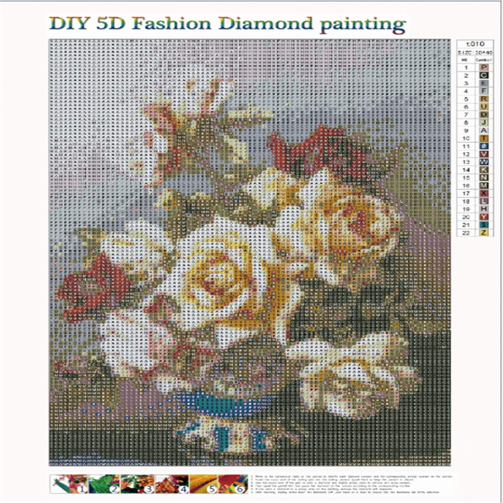 10 Patterns Full DIY 5D Diamond Painting Embroidery Rhinestones Picture Kit