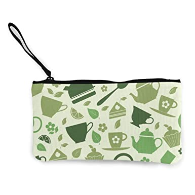 Amazon.com: Estampado de ilustraciones de té verde lienzo ...