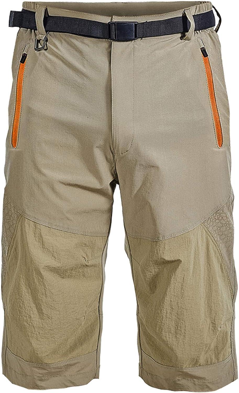 EUSMTD 3//4 Hombres Ciclo al Aire Libre de Secado R/ápido para Trotar Resistente al Agua Transpirable Gimnasio Pantal/ón Corto