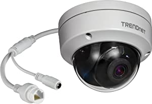 TRENDnet Indoor/Outdoor 8MP 4K H.265 120dB WDR PoE Dome Network Camera, TV-IP1319PI, IP67 Weather Rated Housing, SmartCovert IR Night Vision up to 30m (98 ft.), microSD Card Slot