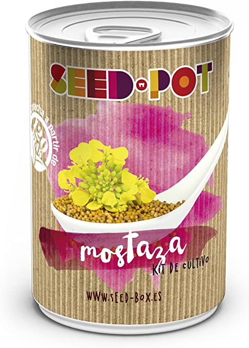 SeedBox PGPTMB Lata de cultivo mostaza blanca, 0.7x0.7x9 cm ...