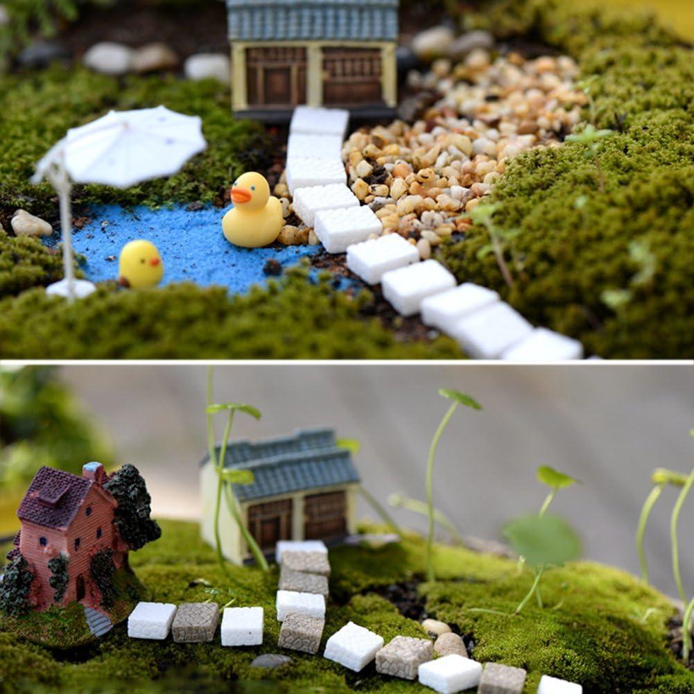 HONGY Piedra de microescalón para jardín en Miniatura, decoración de casa de Hadas, No nulo, 50 Piezas Blancas, Tamaño Libre: Amazon.es: Hogar
