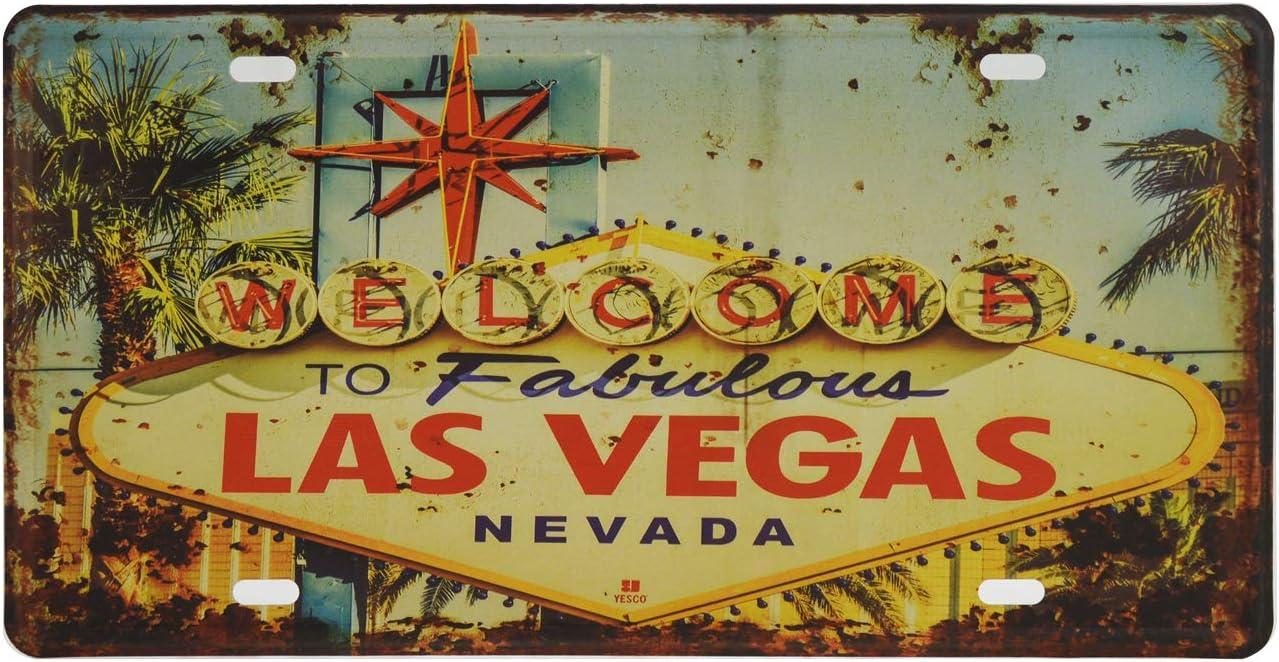 License Plate - Wall Decor Las Vegas Souvenir 'Welcome to Fabulous Las Vegas Nevada' 12