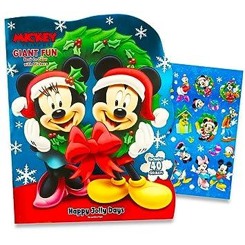Amazon.com: Disney Mickey Mouse Gigantic Christmas Coloring Book ...