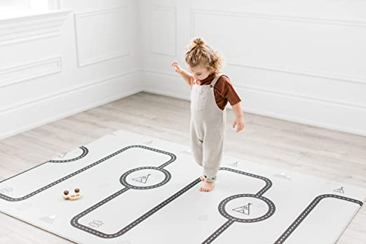 Grey 4.92x 6.56 Livingroom Rug Yoga Mat Lyfreen Memory Foam Baby Floor Rug Modern Area Rug Nursery Floor Rug for Boys Girls Ultra Soft Childrens Carpet Infant Toddler Play Mat