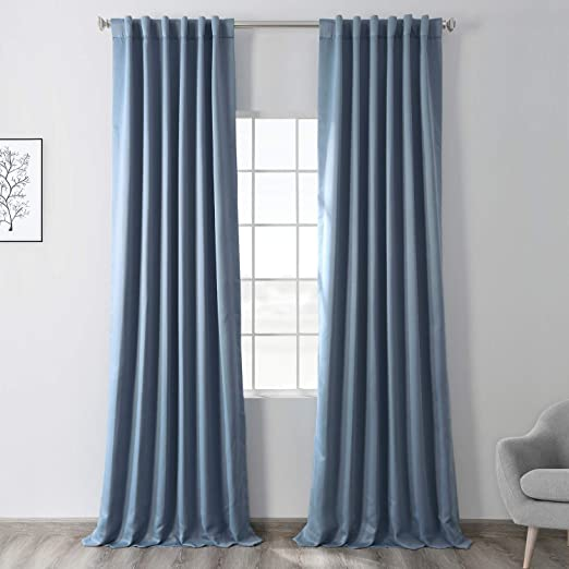 """Pottery Barn Pinstripe Grommet Blackout Curtain Panel 84/"""" Navy Blue 5 Available"""