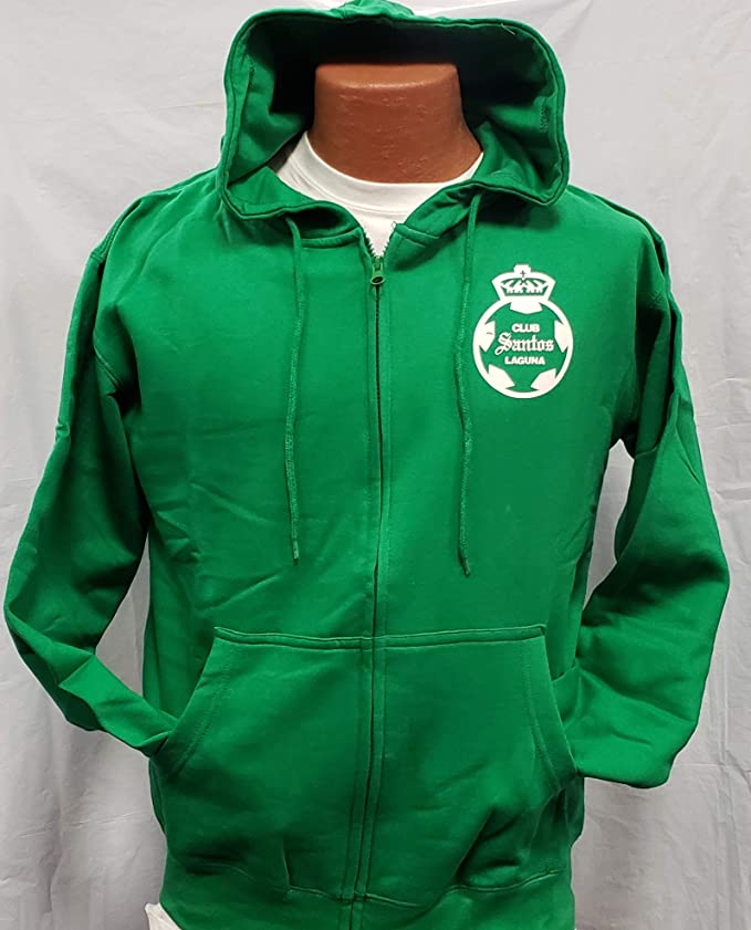 Amazon.com : New Club Deportivo Santos Sudadera De Gorro Zip up Hoodie Size M : Sports & Outdoors
