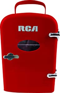 Compact refrigerators by RCA - Multi Colors, Office Product, small meal cool, Beverage, Drinks (Red)