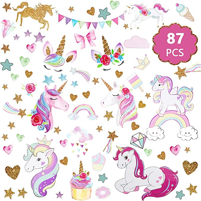 Princess Kisses Unicorn Quote Wall Sticker WS-41427