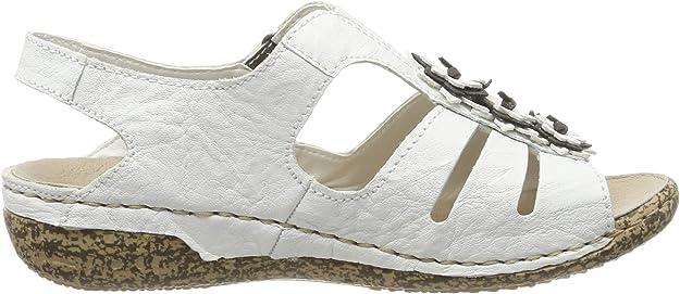 Rieker Komfort Sandalen Damenschuhe V7273 81 Weiss | Schuhe24