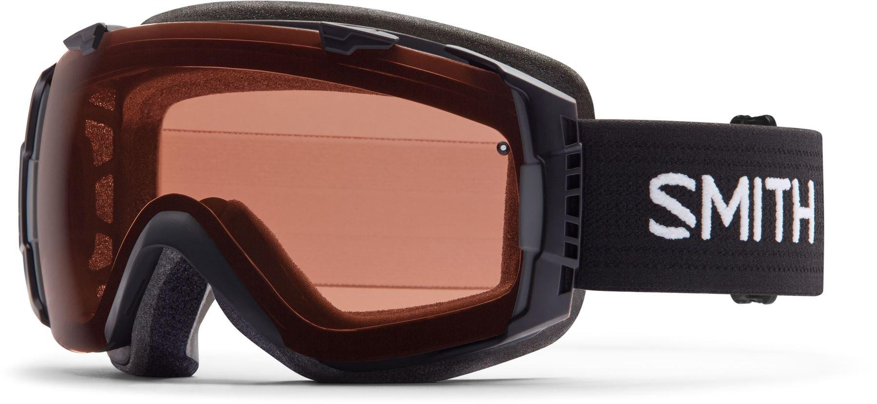 Smith Optics I/O Adult Interchangable Series Snocross Snowmobile Goggles Eyewear - Black / Polarized Rose Copper / Medium by Smith Optics