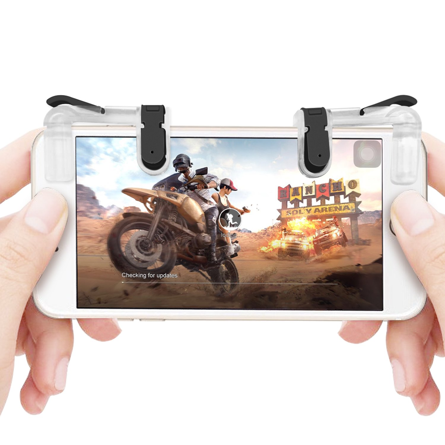 Mobile Game Controller Sensitive Shoot And Aim Buttons L1 R1 Sharp Shooter Pubg Joystick Rule Of Survival Versi 3 L1r1 For Fortnite Rules Survial Android Ios System 1 Pair Cell