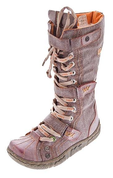 new styles 415e2 85de2 TMA Damen Leder Winter Comfort Stiefel Gefüttert Echt Leder Schuhe 7086  Viele Farben