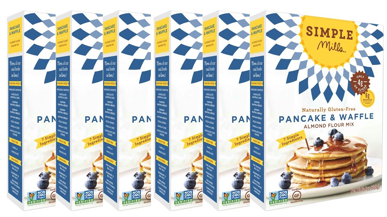Simple Mills Almond Flour Mix, Pancake & Waffle, 10.7 Ounce, Pack of 6 by Simple Mills