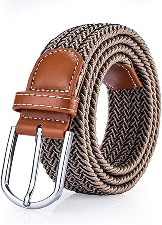 stretch canvas belts elastic belt pin buckle Universal trouser pockets