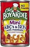Chef Boyardee Mini-Bites ABC's & 123's w/Meatballs-15 oz