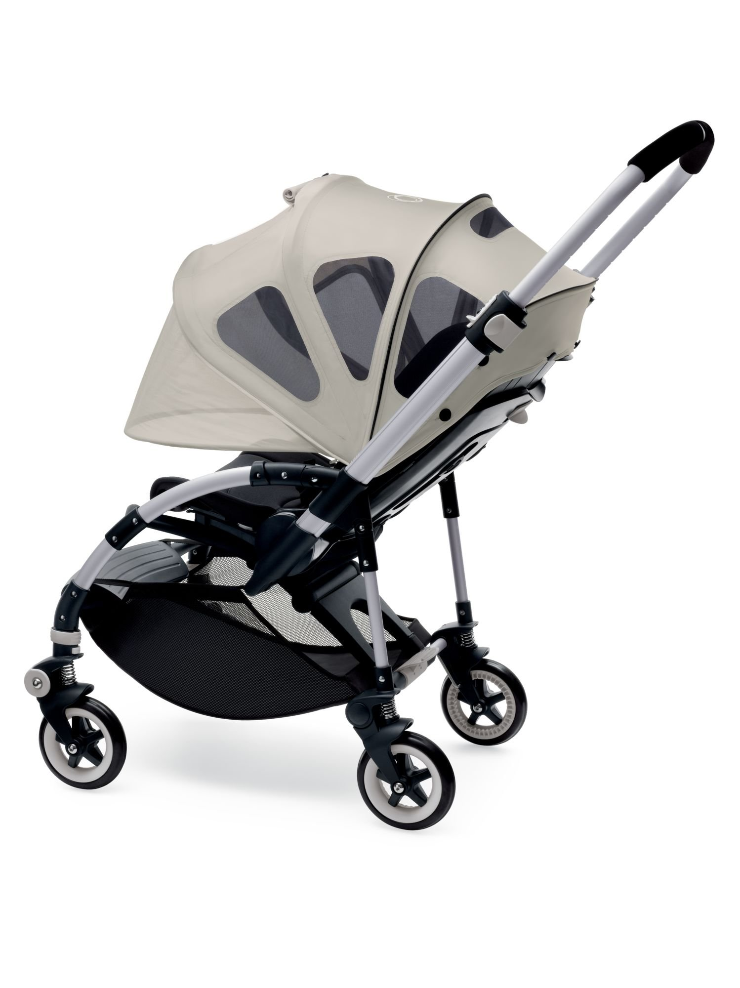 Bugaboo Bee Breezy Sun Canopy, Arctic Grey - Extendable Sun Canopy with UPF Sun Protection and Mesh Ventilation Panels by Bugaboo (Image #3)