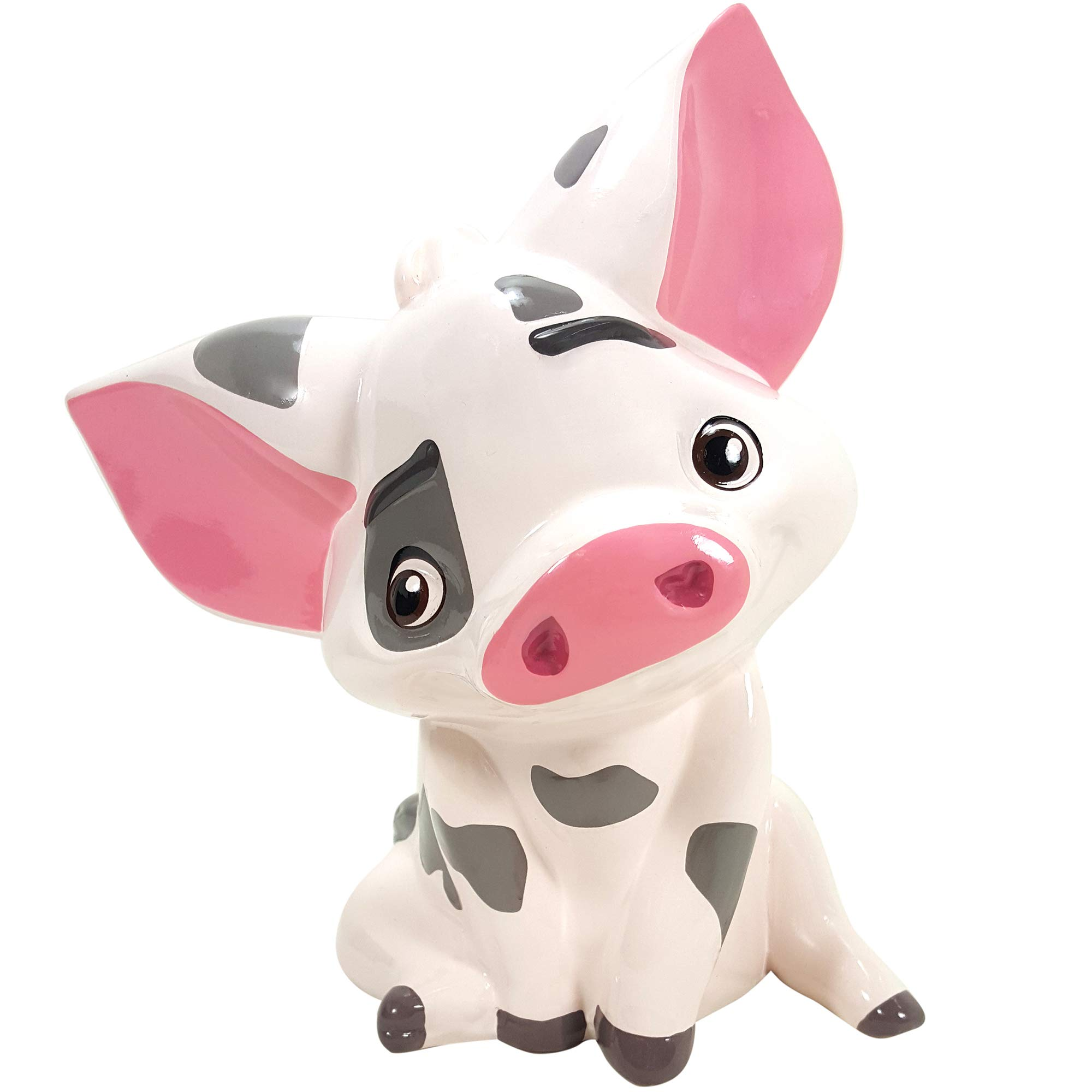 Disney Moana Pua Ceramic Piggy Bank - Collectible Gift Item for Boys, Girls, Adults, Baby, Moana Fan! by Disney