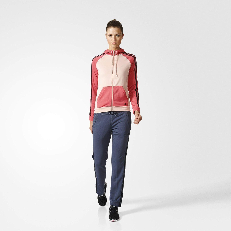 adidas New Young Knit Chandal, Mujer, (Rosvap/Rosart/Negro), XL ...