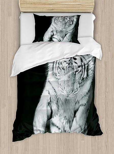 ABAKUHAUS Tigre Funda Nórdica, Grande Gato Juega En Agua, 1 Funda ...