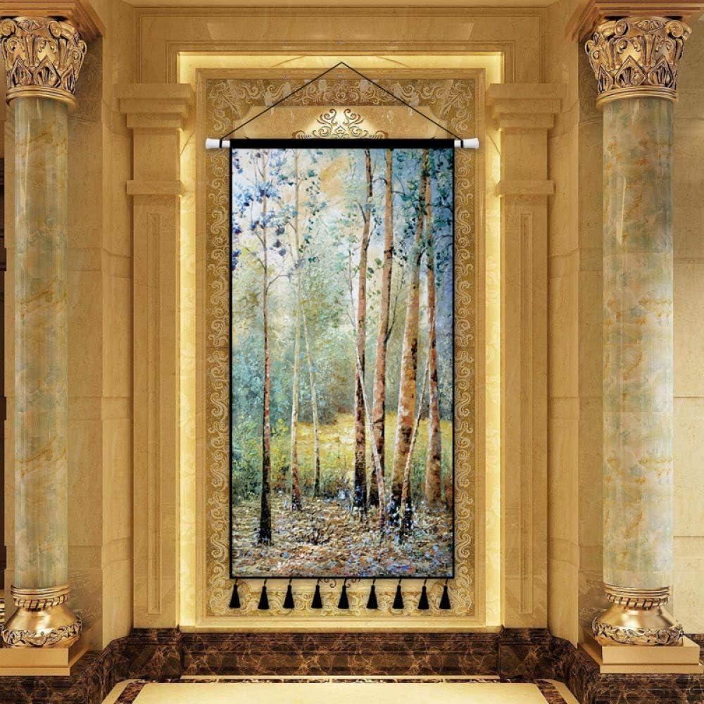 mmzki Estilo escandinavo clásico Lienzo de Gran tamaño Pintura de Paisaje Pintura de Arte Pintura Decorativa Porche Sala de Estar decoración del hogar Pintura de Desplazamiento K 40x80 cm: Amazon.es: Hogar