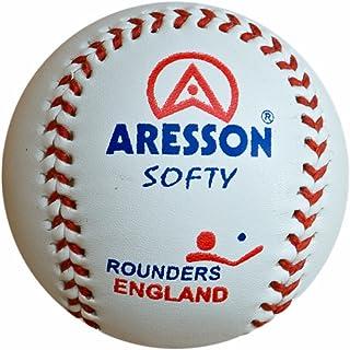 Aresson Softy Box - Confezione da 6 Palline da Rounders, 19 cm, Colore Bianco