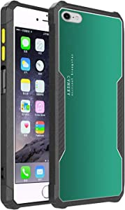 CEUTUE for iPhone 6 Plus/7 Plus/8 Plus Case,Luxury Armor Bumper Case Full Body Protective Silicone TPU Shockproof Tough Armour Hard Mobile Phone Cover for iPhone 6 Plus/7 Plus/8 Plus(Green)