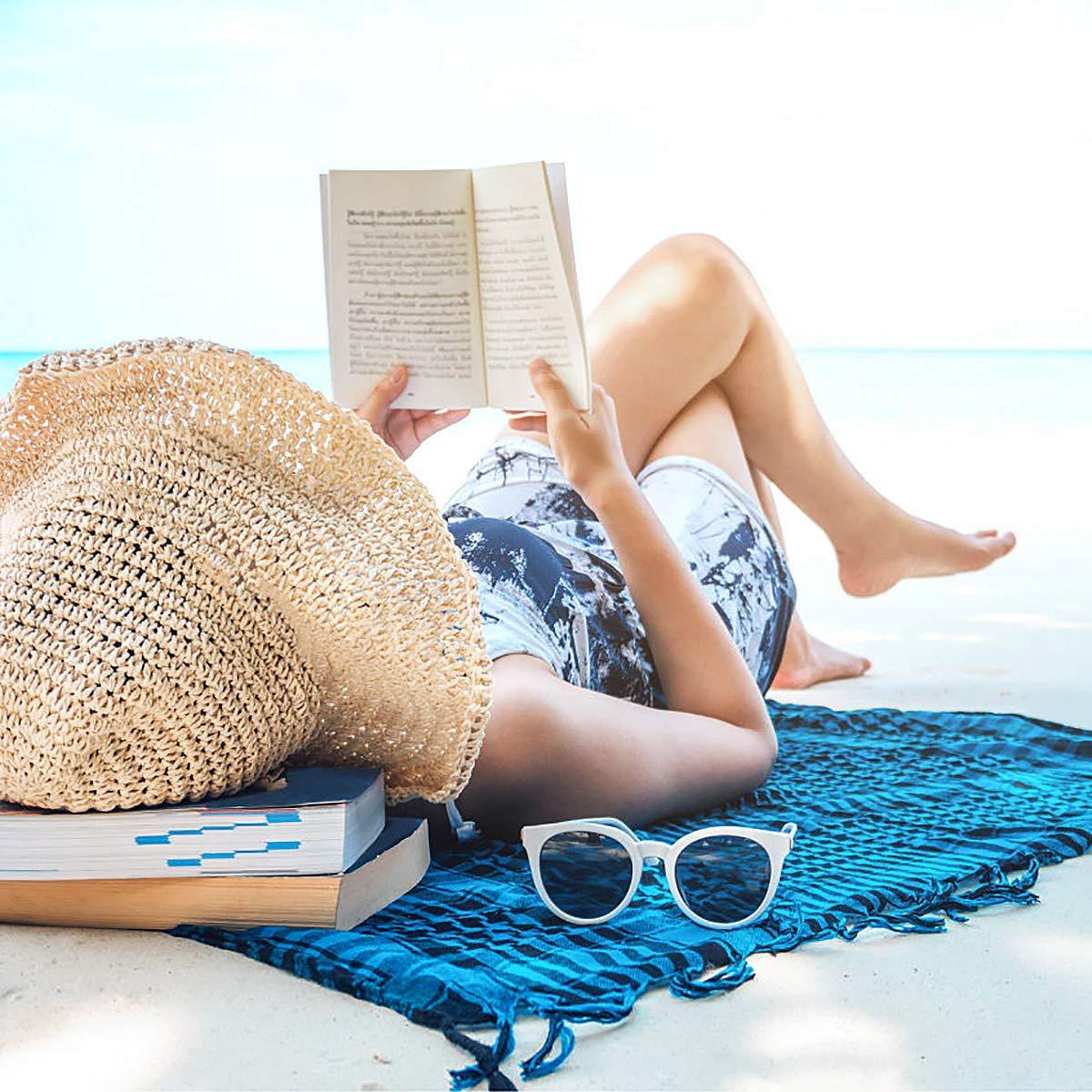 Cappello Parasole di Paglia da donna Elegante beige flessibile e pieghevole per l/'estate viaggio e la spiaggia Vacanze Cappello Tesa Larga da Sole Estate