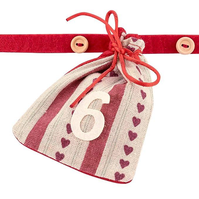 0a4f3a380 Pajoma - Calendario de Adviento con 24 bolsas rojo, E (responsabilidad  Rot): Amazon.es: Hogar
