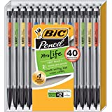 Bic Mechanical Pencils, 40 count, Black barrel with multi color clips
