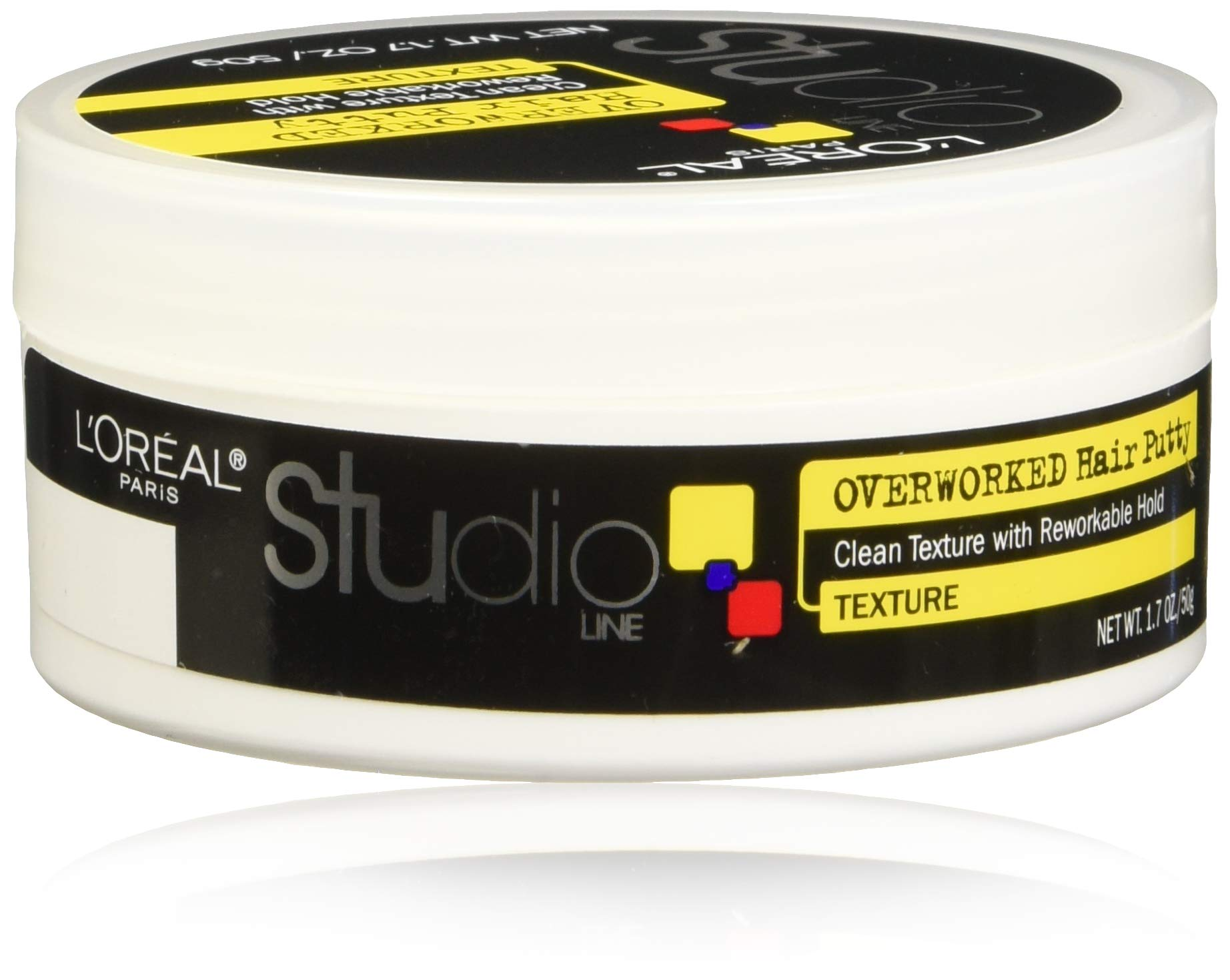 L'Oreal Paris Studio Line Overworked Hair Putty, 1.7 Ounce (Pack of 4) by L'Oreal Paris