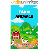 Farm Animals: Book for Ages 2-7 for Kids, Toddlers ,Boys,Girls,Kids, preschool&Kindergarten,1st Grade , Picture Book,Activities Book
