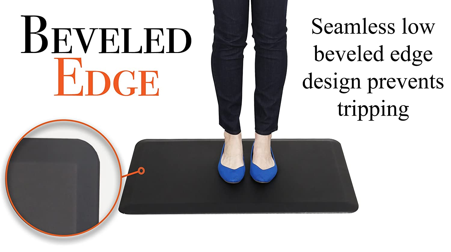 """36 // Black Kitchens Knees /& Feet! Your Passport to Healthier Joints Cubes Stand Steady DiploMat Anti-Fatigue Mat 36/"""" x 24/"""" Ergonomic Anti-Fatigue Mat Designed for Offices Retail and More"""