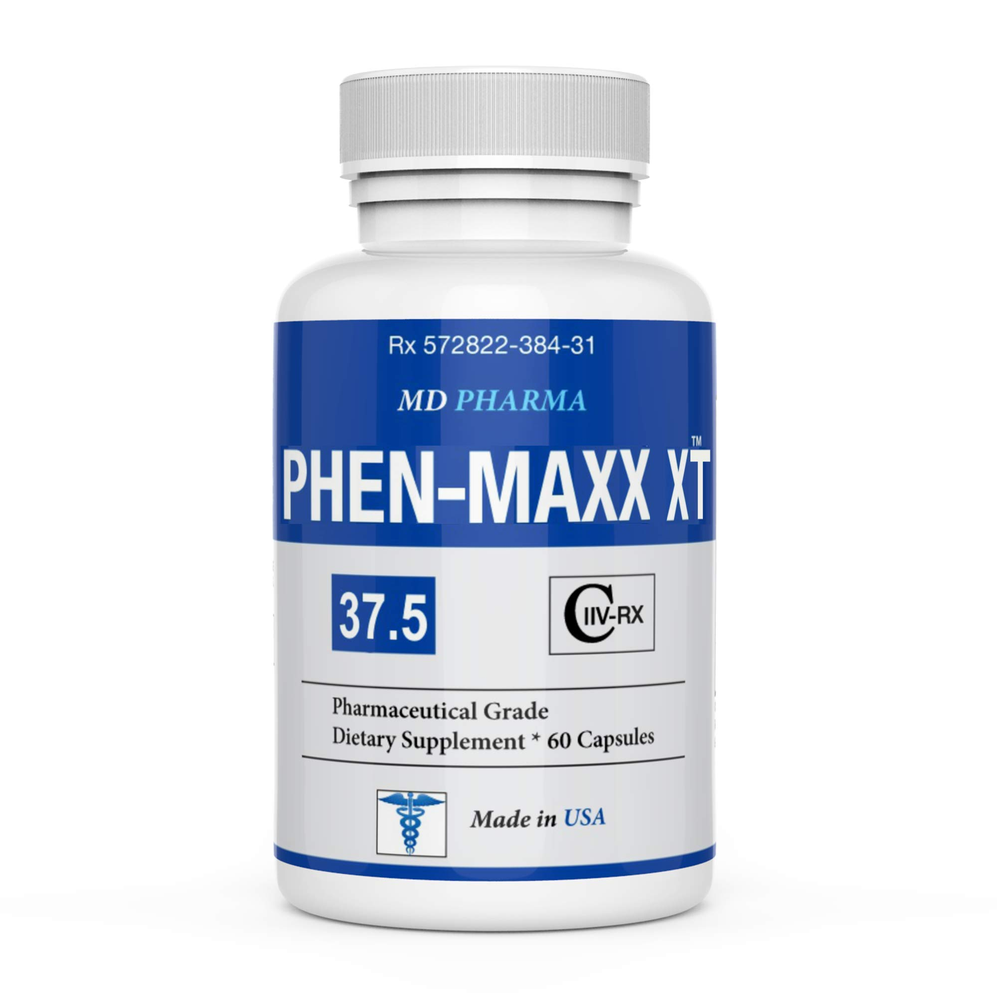 PHEN-MAXX XR 37.5 ® (Pharmaceutical Grade OTC - Over The Counter - Weight Loss Diet Pills) - Advanced Appetite Suppressant - Increase Energy - Clinically Proven Ingredients