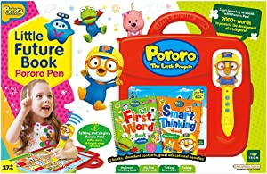 TOYTRON Pororo Little Futurebook with Pororopen 3.0 Red Version. Designed to Help Developing Reading Skills of The Kids which are Best for Beginning Readers. English ver.