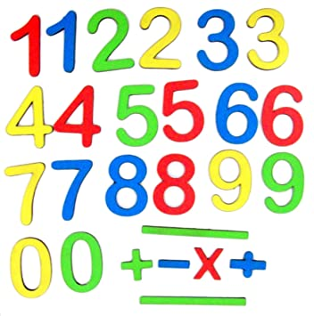 MFM Toys Magnetic Wooden Fun-with-Maths (Numerals) | Fridge Edition