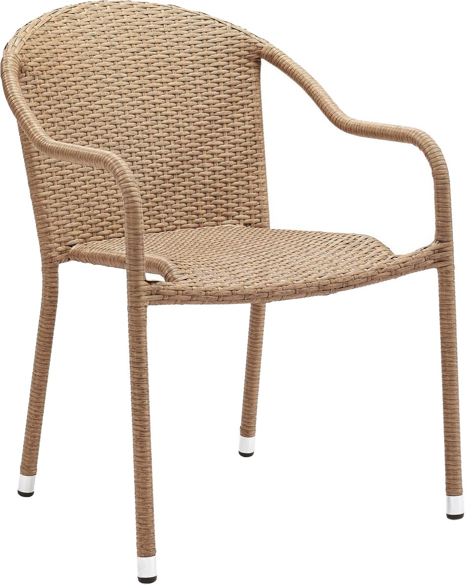 Crosley Furniture Palm Harbor Outdoor Wicker Stackable Chairs - Light Brown (Set of 2) by Crosley Furniture